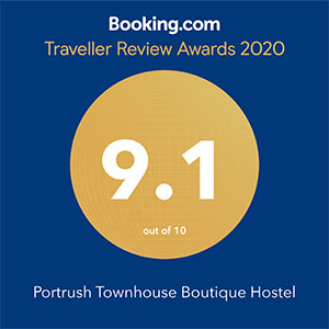Booking.com award for the portrush townhouse